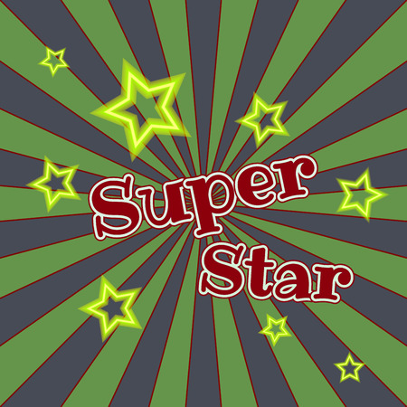 Super star vector lettering illustration. Hand drawn phrase. Handwritten modern brush calligraphy for design.