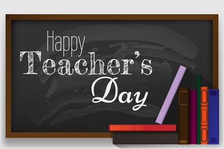 Creative abstract, banner or poster for Happy Teachers Day with nice and creative design illustration.