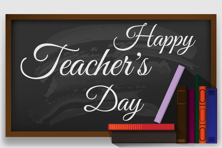 Creative abstract, banner or poster for Happy Teacher's Day with nice and creative design illustration. Ilustração