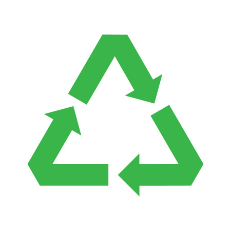 vector recycle symbol. recycle vector icon.  green icon