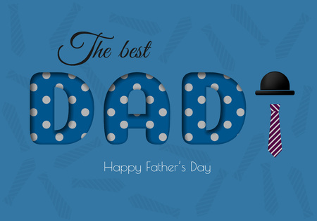 Happy Father s Day Calligraphy greeting card. Vector illustration. 矢量图像
