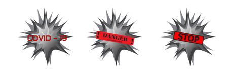 Bacterium, Pandemic stop Novel Coronavirus outbreak covid-19 2019-nCoV. Europe warning and quarantine