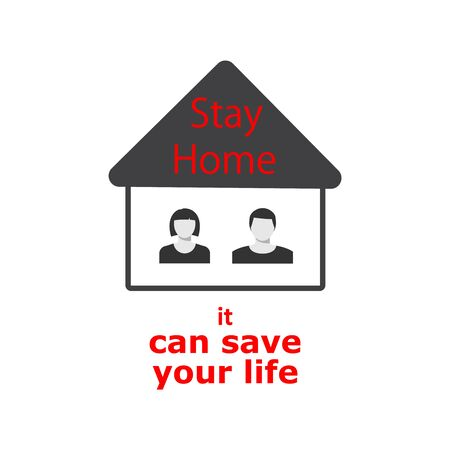 Lockdown Pandemic, stop Coronavirus outbreak covid-19 2019-nCoV symptoms. Europe warning and quarantine in home. Vector icon.