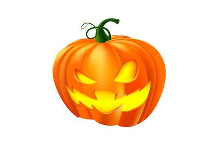 Halloween pumpkin. Halloween vector illustration for banners, poster, sales background