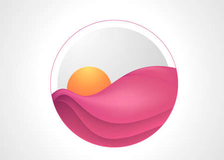 Round object as background illustration for sales growth covers, posters, banners.