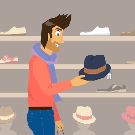 pring: Handsome guy interested in a new fashion hat
