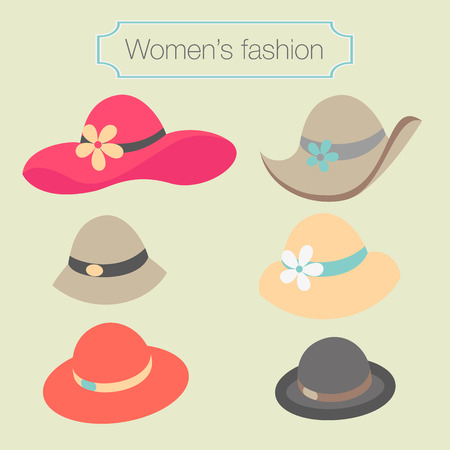 pink hat: Women Illustration