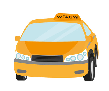 Taxi yellow car isolated on white   Vector