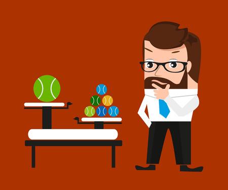 clod: Businessman is pondering about clod technologies  Conceptual illustration