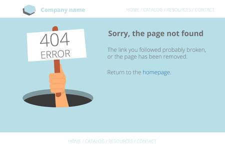not found: La mano del hombre muestra del agujero un mensaje sobre P�gina no encontrada Error 404. Texto esboz�. Fuente gratuita usado Abrir Sans
