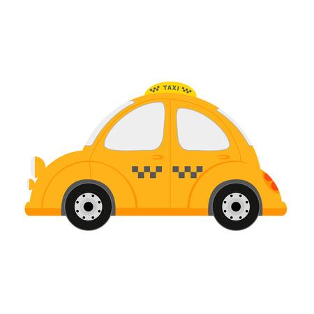 carting: Peque�o veh�culo taxi aislado en blanco ilustraci�n vectorial Vectores