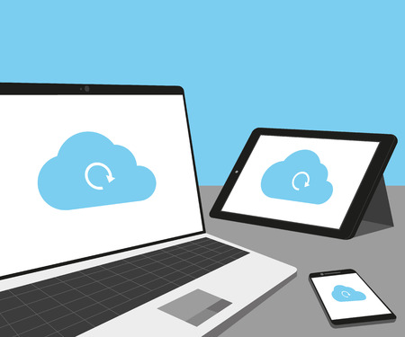 storage device: Laptop, tablet pc and smartphone with cloud sync
