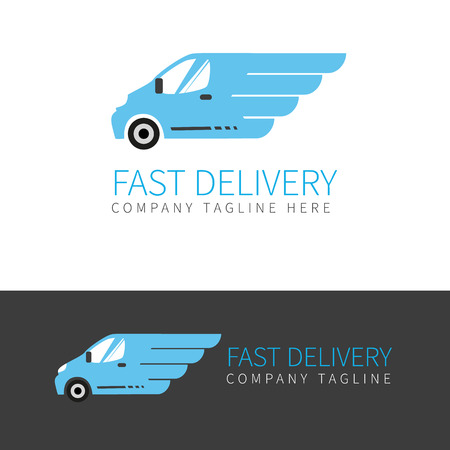 delivery truck: fast delivery van in two colors