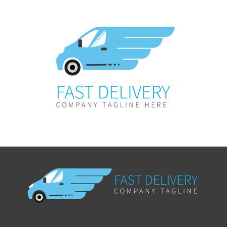 szybki samochód dostawczy w dwóch kolorach