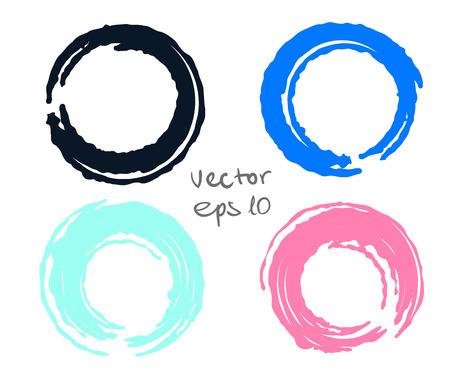 the four elements: Painted circles set for design - four elements Illustration