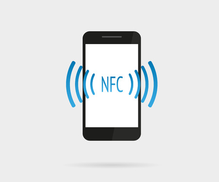 nfc: Vector illustration of smartphone with nfc function Illustration