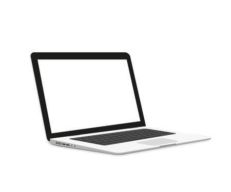 Isometric illustration of laptop isolated on white Stock Illustratie