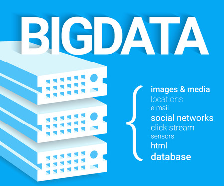 visualisation: Infographic concept illustration of Big data - 4V visualisation.