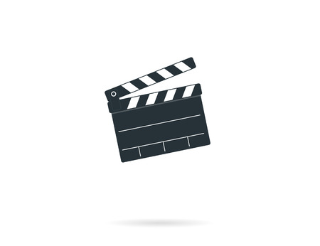 clapper board: Cinema clapper board symbol. Isolated on white Illustration