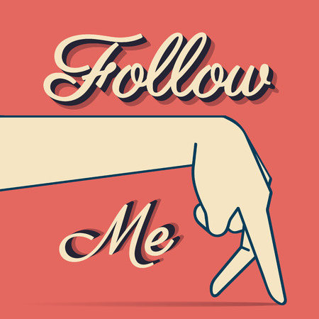 follow me: Follow me typography t-shirt vintage graphic design