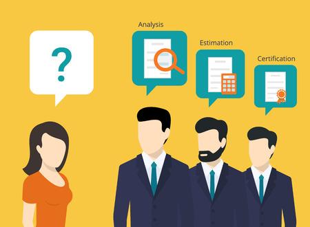 QUipe de consultants professionnels et les meilleures solutions pour le client Banque d'images - 43489103