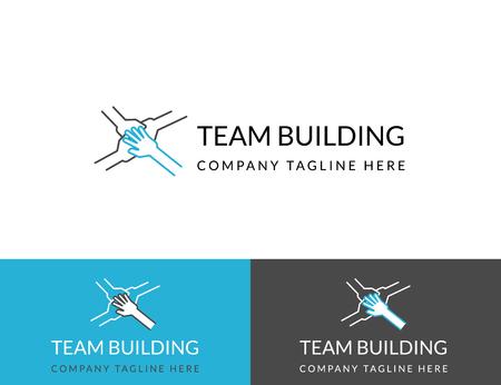 Team-Building-Business-Design in drei Farben