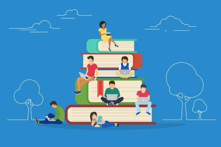 E-learning concept illustration