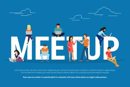 Meetup concept illustration