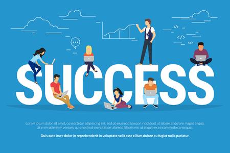 Success concept illustration Illustration