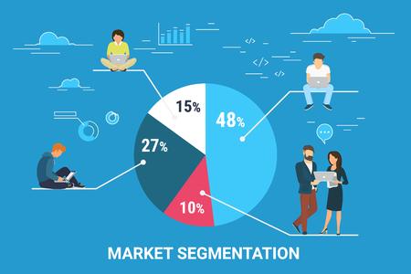 Market segmentation infographic concept illustration