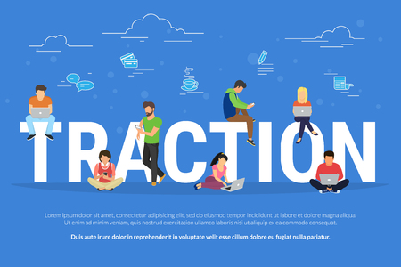 Usability traction concept illustration Illustration