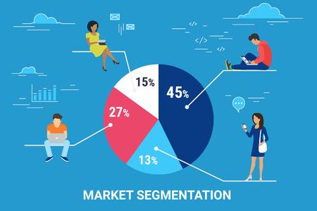 Ilustración de concepto de segmentación de mercado infográfico
