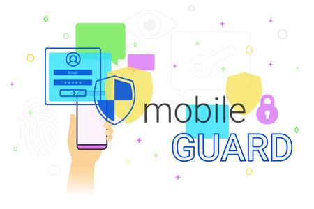 smartphone apps: Mobile guard app on smartphone