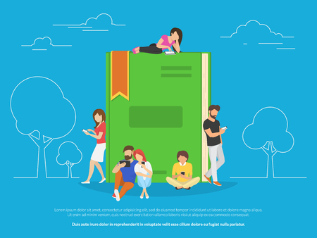 E-book concept vector illustration