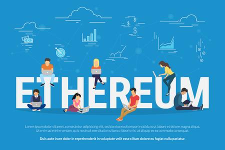 Ethereum concept illustration Stock Vector - 80489136