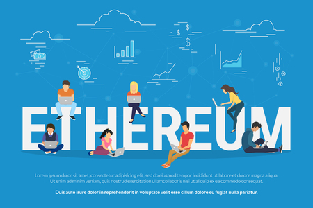 Ethereum concept illustration