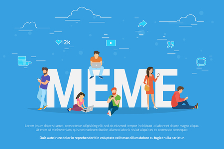 Meme concept vector illustration