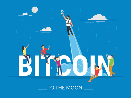 Bitcoin concept illustration Illustration