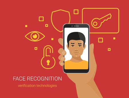 Face identification of african man wearing beard