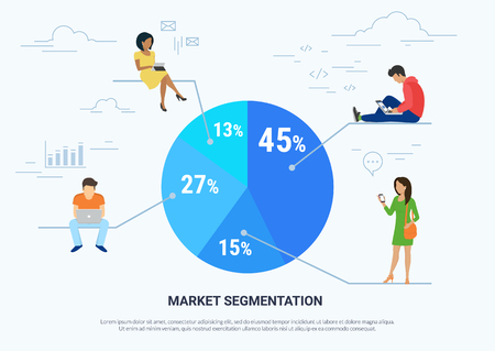 Market segmentation infographic concept illustration 向量圖像