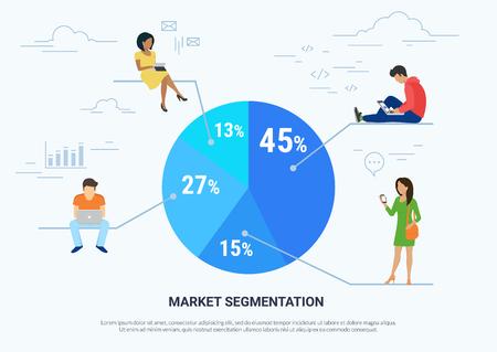Market segmentation infographic concept illustration Illustration
