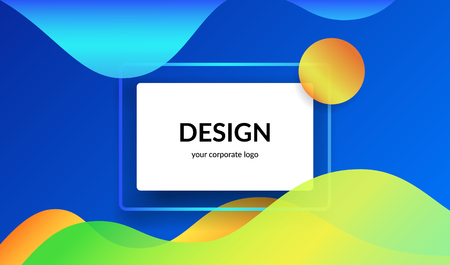 Bright design for corporate and personal website banners and presentation slides. Illustration