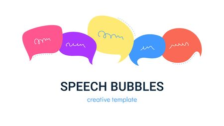 Speech bubbles set for social media as chat conversation