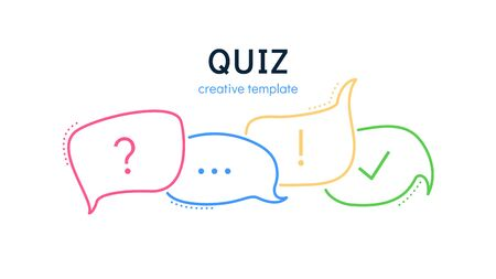 Quiz speech bubbles for a creative victorine