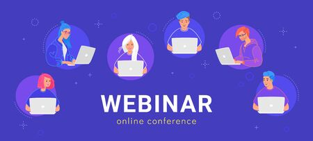 Webinar online conference for young people