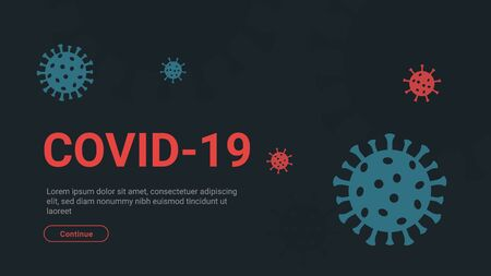 Covid-19 prevention and quarantine informational abstract banner