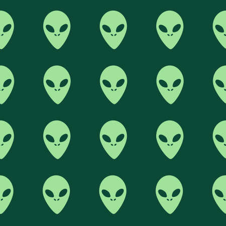 Green aliens pattern. Vector illustration Ilustracja