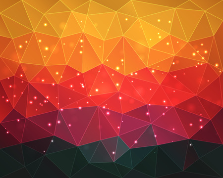 Abstract colorful polygonal background Vectores