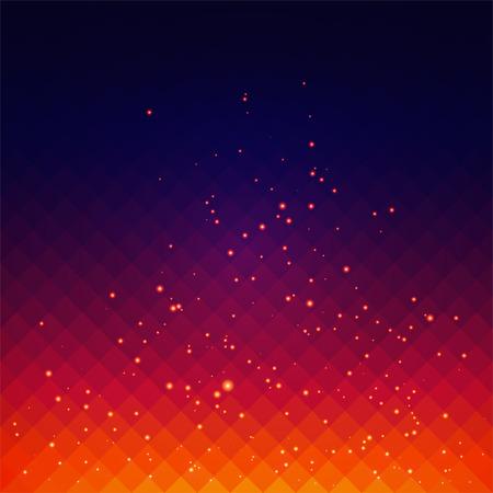 Abstracte achtergrond met vuur vonken effect