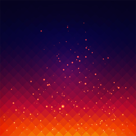 Abstract background with fire sparks effect